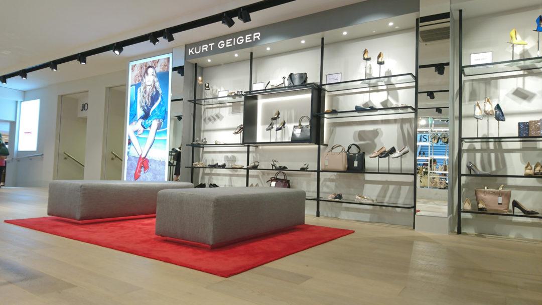 Kurt Geiger Jersey AM System Footwear Shopfitting Manufacture